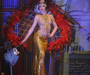 Cabaret costume plume revue sexy