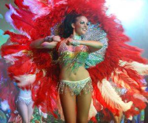 Revue danseuses sexy costume plumes