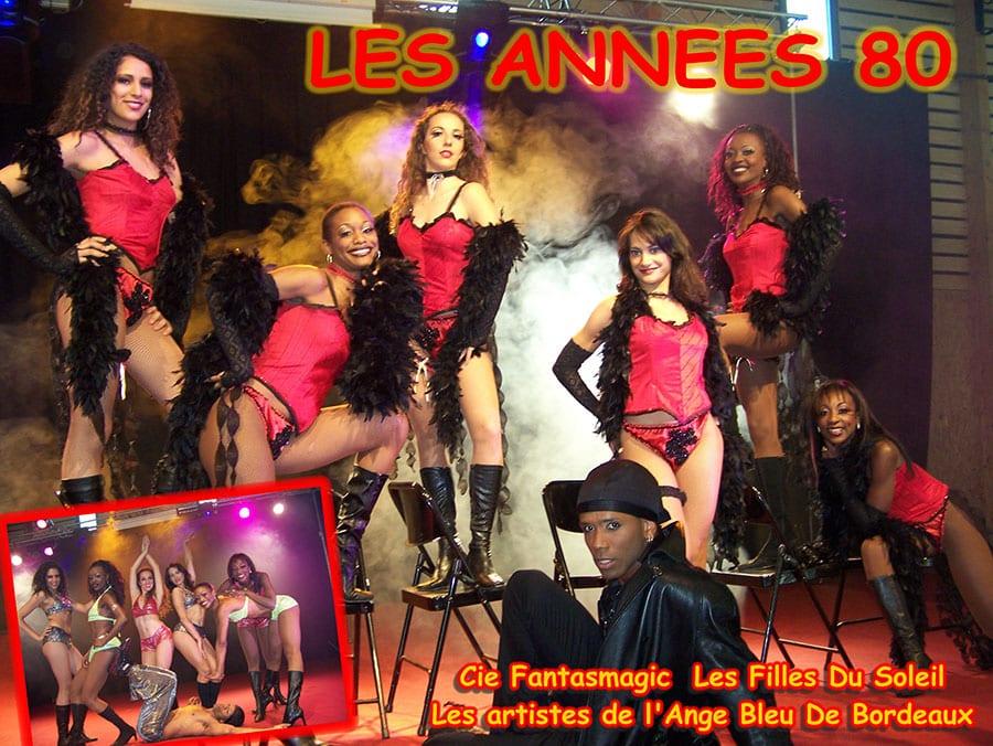 les ann u00e9es 80   troupe de cabaret soir u00e9e ann u00e9es 80